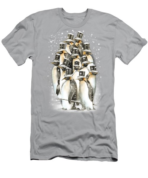 A Gathering In The Snow Men's T-Shirt (Athletic Fit)
