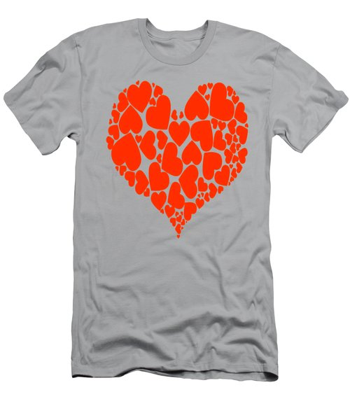 A Heart Full Of Love Red Pattern  Men's T-Shirt (Athletic Fit)