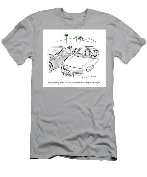 A Los Angeles Boston Fan Men's T-Shirt (Athletic Fit)