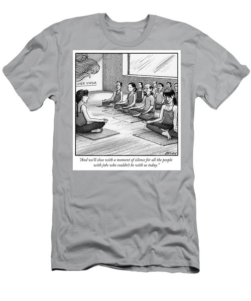 A Moment Of Silence For All The People With Jobs Men's T-Shirt (Athletic Fit)
