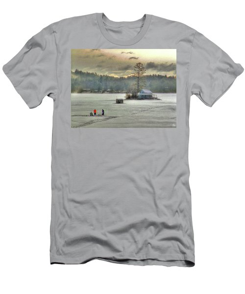 Men's T-Shirt (Athletic Fit) featuring the photograph A Warm Glow On A Cool Scene by Wayne King