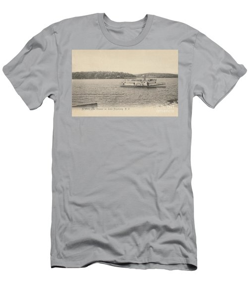 Men's T-Shirt (Athletic Fit) featuring the photograph A White Line Steamer On Lake Hopatcong by Mark Miller