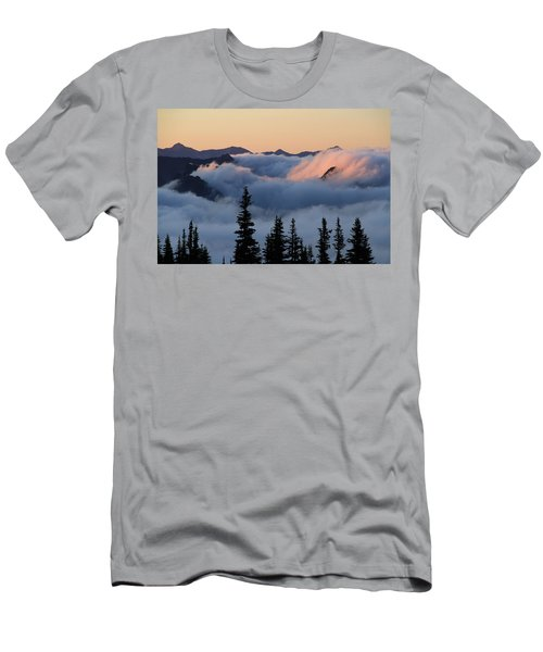 Above The Clouds Sunrise Men's T-Shirt (Athletic Fit)