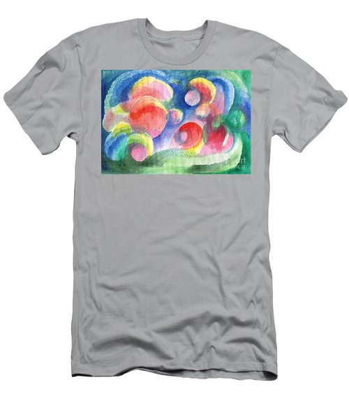 Abstract Bubbles Watercolor Men's T-Shirt (Athletic Fit)