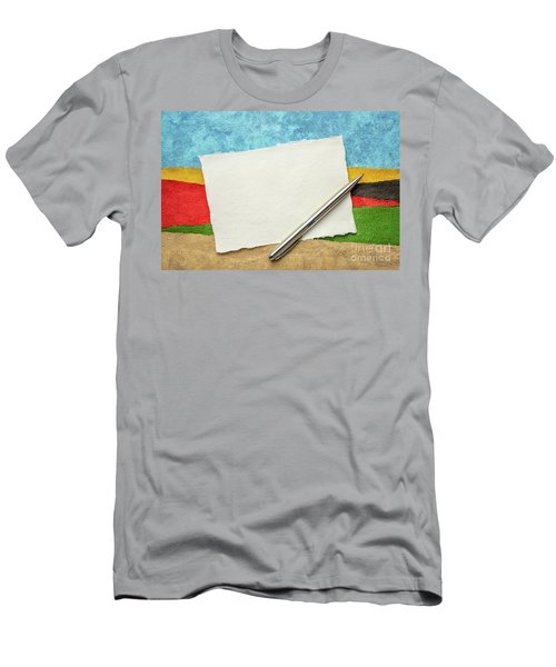 Abstract Landscape With A Blank Note Men's T-Shirt (Athletic Fit)