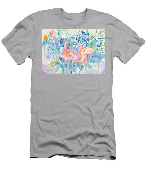 Abstract Lilies Men's T-Shirt (Athletic Fit)