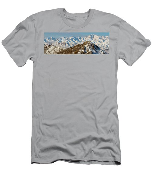 Men's T-Shirt (Athletic Fit) featuring the photograph Afghanistan Hindu Kush Snowy Peaks by SR Green
