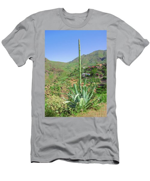 Agave With Flower Spear In Masca Men's T-Shirt (Athletic Fit)