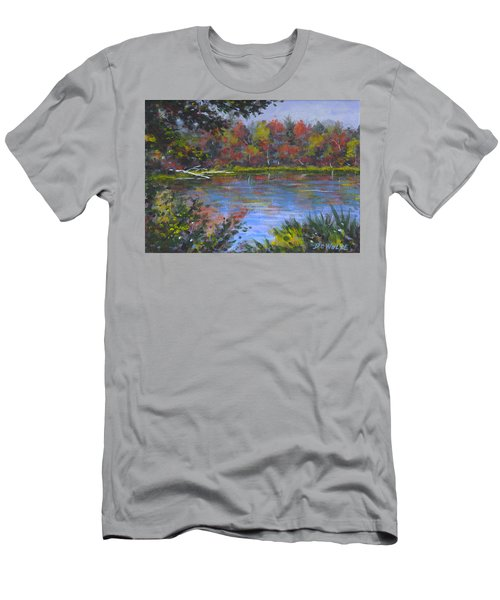 Algonquin Lake Sketch Men's T-Shirt (Athletic Fit)