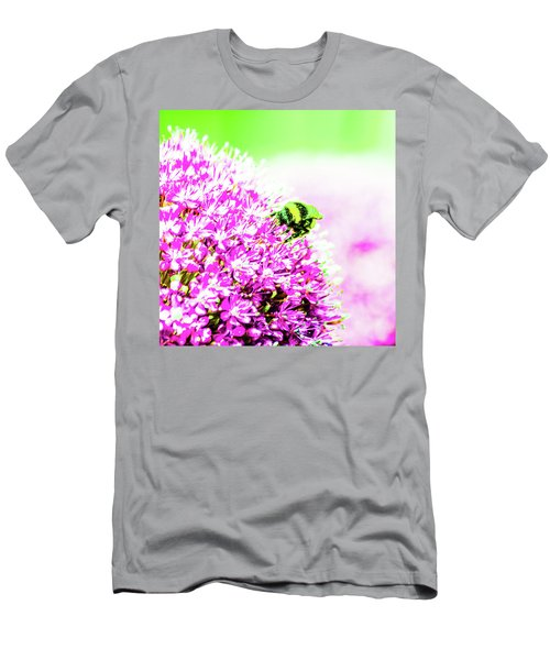 Allium With Bee 3 Men's T-Shirt (Athletic Fit)