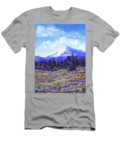 Alpine Meadow Sketch Men's T-Shirt (Athletic Fit)
