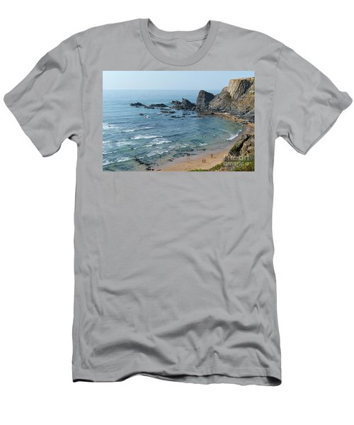 Amalia Beach From Cliffs Men's T-Shirt (Athletic Fit)
