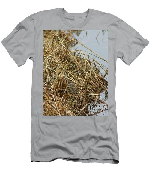 Men's T-Shirt (Athletic Fit) featuring the photograph American Bittern by Debbie Stahre