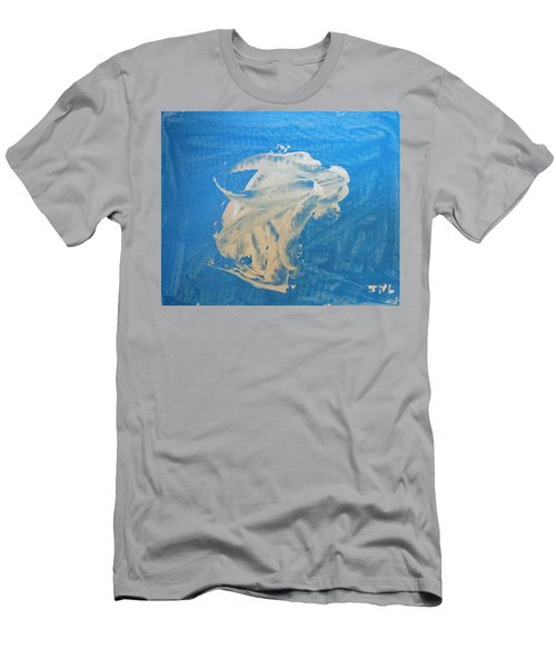 Angel And Dolphin Riding The Waves Men's T-Shirt (Athletic Fit)