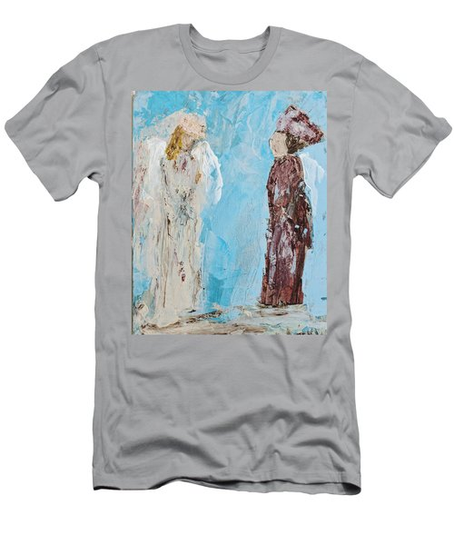 Angel Of Wisdom Men's T-Shirt (Athletic Fit)