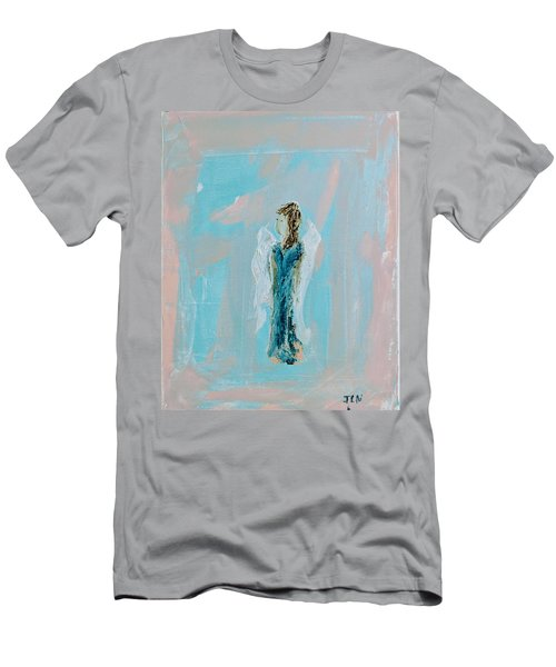 Angel With Character Men's T-Shirt (Athletic Fit)