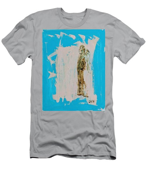 Angel With His Dog Wings Men's T-Shirt (Athletic Fit)