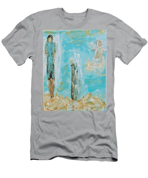 Angels Appear On Golden Clouds Men's T-Shirt (Athletic Fit)