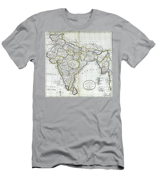 Antique Map Of India   Men's T-Shirt (Athletic Fit)