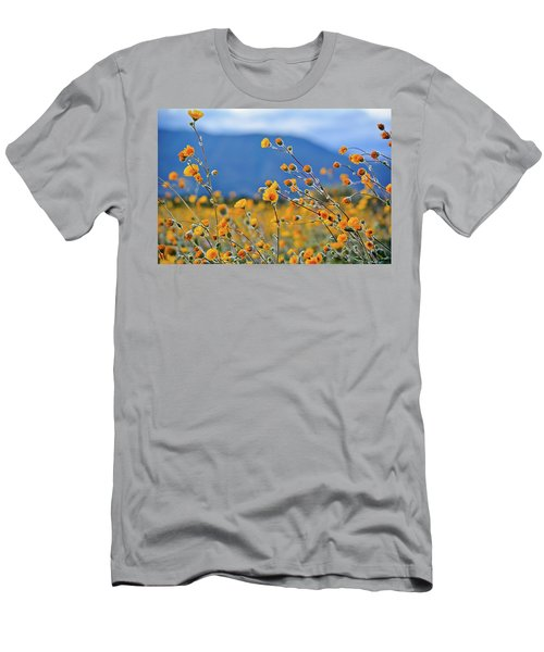 Anza Borrego Wild Desert Sunflowers Men's T-Shirt (Athletic Fit)