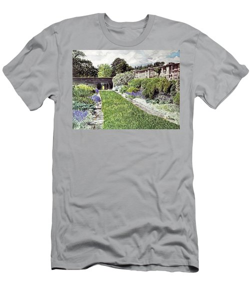 Approaching The Hatley Castle Italian Gardens Men's T-Shirt (Athletic Fit)