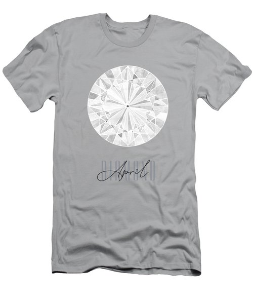 April Birthstone - Diamond Men's T-Shirt (Athletic Fit)