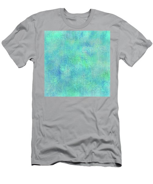 Aqua Batik Print Coordinate Men's T-Shirt (Athletic Fit)