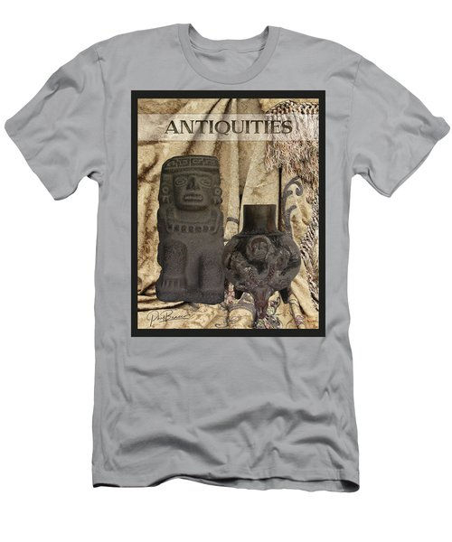 Artifacts,stone Statue And A Clay Vase Men's T-Shirt (Athletic Fit)