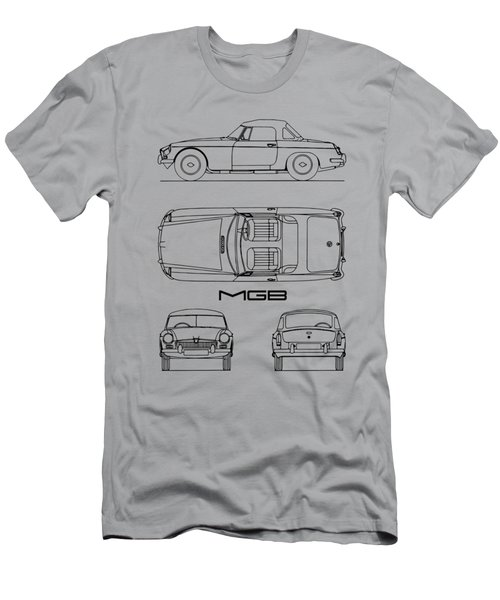 Mgb Blueprint - White Men's T-Shirt (Athletic Fit)