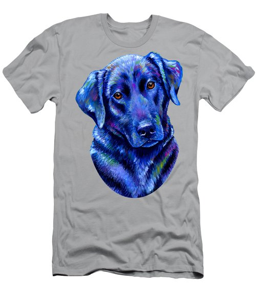 Colorful Black Labrador Retriever Dog Men's T-Shirt (Athletic Fit)