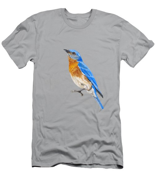 Cute Eastern Bluebird  Men's T-Shirt (Athletic Fit)