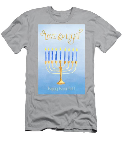 Love And Light For Hanukkah Men's T-Shirt (Athletic Fit)