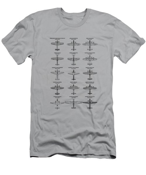 British Bomber Aircraft Of Ww2 Men's T-Shirt (Athletic Fit)