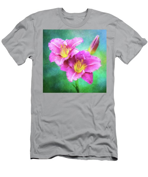Dynamic Daylily Duo Men's T-Shirt (Athletic Fit)