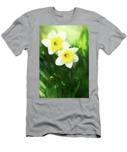 Lovely Painted Daffodil Pair Men's T-Shirt (Athletic Fit)