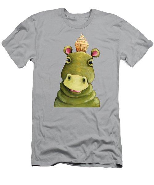 Hippo In Vanilla Men's T-Shirt (Athletic Fit)