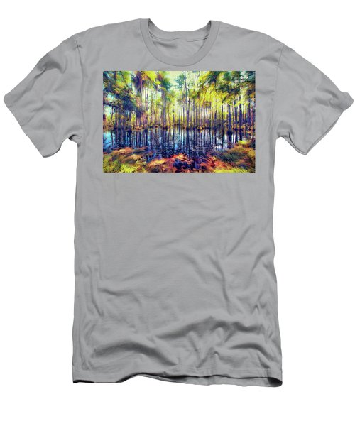 Autumn Fall Colors In The Cypress Swamp Ap Men's T-Shirt (Athletic Fit)