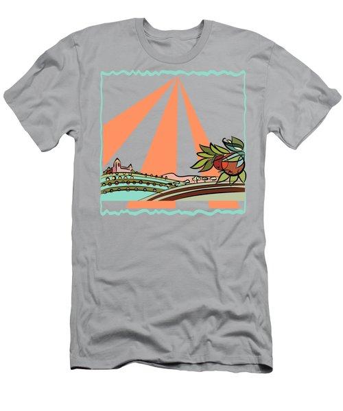 Autumn Harvest Illustration 2 Men's T-Shirt (Athletic Fit)