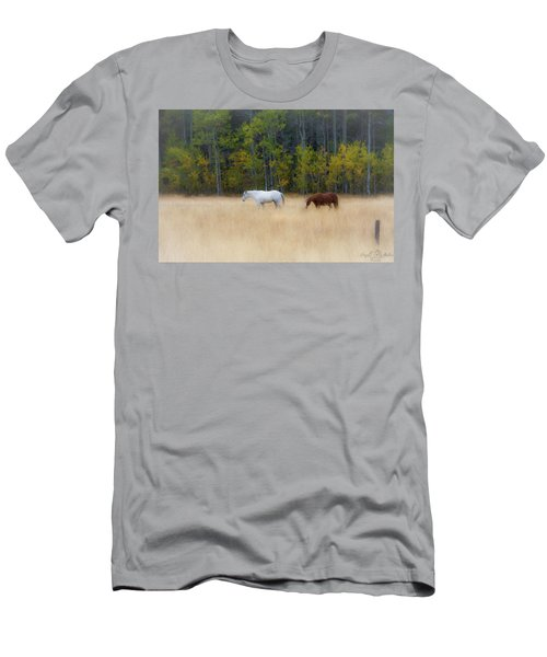 Autumn Horse Meadow Men's T-Shirt (Athletic Fit)
