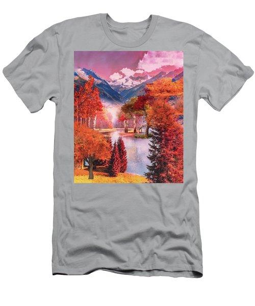 Autumn Landscape 1 Men's T-Shirt (Athletic Fit)