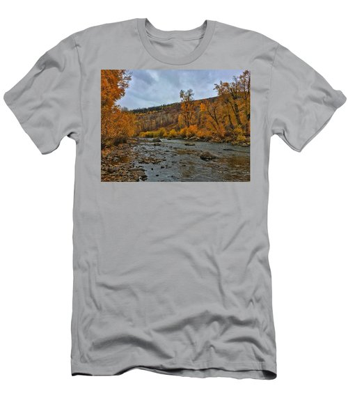 Men's T-Shirt (Athletic Fit) featuring the photograph Autumn On The Yampa River by Dan Miller