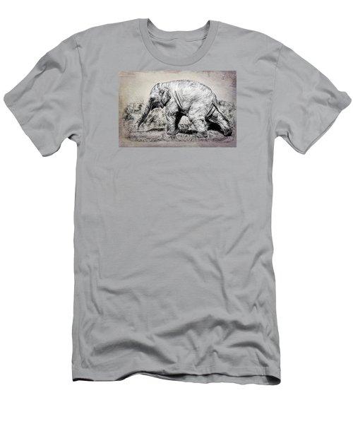 Baby Elephant Walk Men's T-Shirt (Athletic Fit)