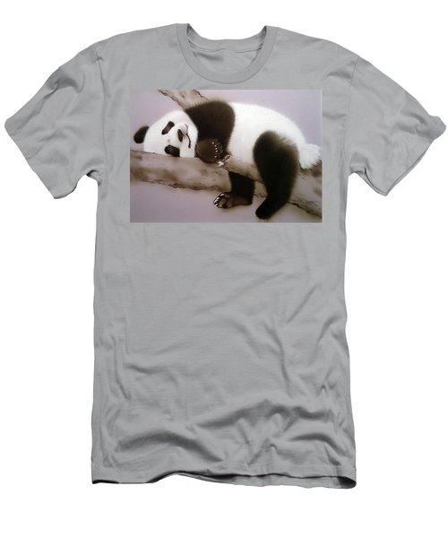 Baby Panda In Sweet Dream Men's T-Shirt (Athletic Fit)