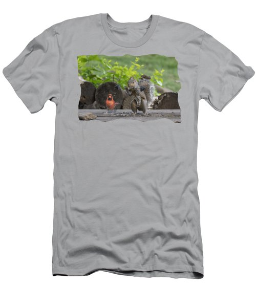 Backyard Squirrel Working Out With Trainer Men's T-Shirt (Athletic Fit)