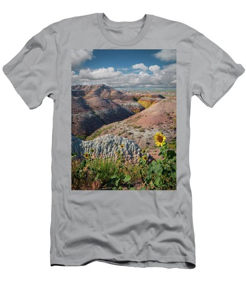 Badlands Sunflower - Vertical Men's T-Shirt (Athletic Fit)