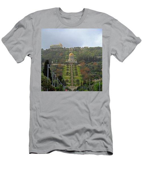 Bahai Gardens And Temple - Haifa, Israel Men's T-Shirt (Athletic Fit)