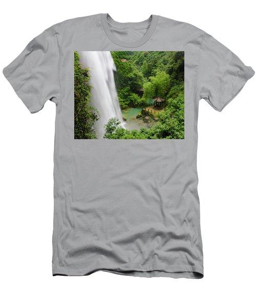 Baiyun Waterfall Men's T-Shirt (Athletic Fit)