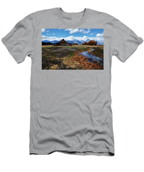 Men's T-Shirt (Athletic Fit) featuring the photograph Barn On Mormon Row by Scott Read