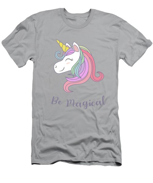 Be Magical - Baby Room Nursery Art Poster Print Men's T-Shirt (Athletic Fit)