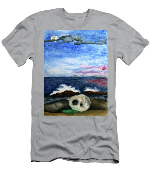 Beach Debris With Waves Men's T-Shirt (Athletic Fit)